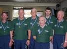 Bronze Jyllandsserie Herrer. Erik K, Mogens, Erik O, Leif, Sergej, Bent