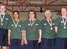 Guld 3. Division Damer. Ulla, Charlotte, Kamphan, Inger, Sonja, Lone og Kirsten