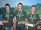Klubmestre Ynglinge / Juniorer. Nr.3 Simon - Nr.1 Julian - Nr.2 Michael H