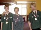 Klubmestre Juniorer Nr.1 Claus - Nr.2 Kasper - Nr.3 Michael