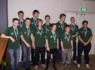 Gruppefoto efter medaljeoverrækkelsen